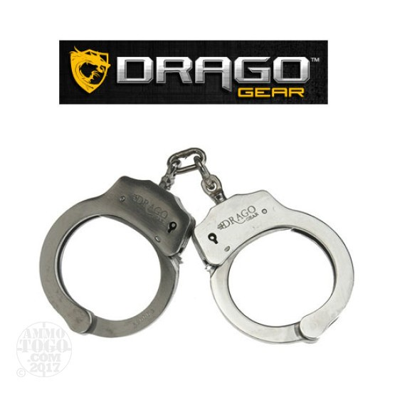 1 - Drago Gear Double Lock Handcuffs Stainless Steel