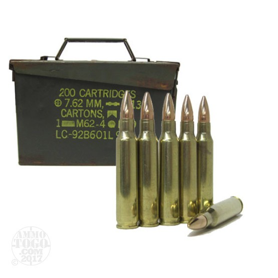 500rds - .223 DRS 55gr. FMJBT Ammo Once Fired Brass in Fair Ammo Can