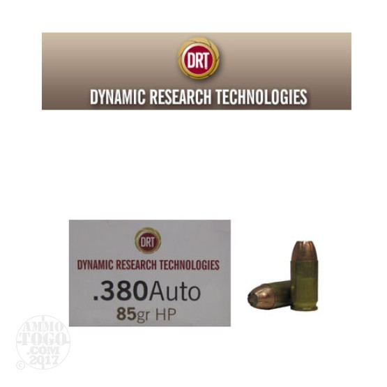 20rds - 380 Auto DRT 85gr. HP Lead Free Fragmenting Ammo