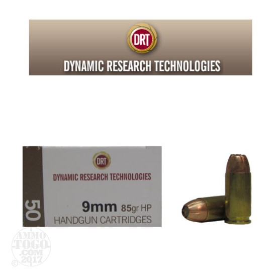 50rds - 9mm DRT 85gr JHP Lead Free Fragmenting Ammo