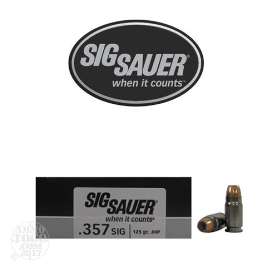 20rds - .357 Sig Sig-Sauer Elite Performance Ammunition 125gr. V-Crown JHP Ammo