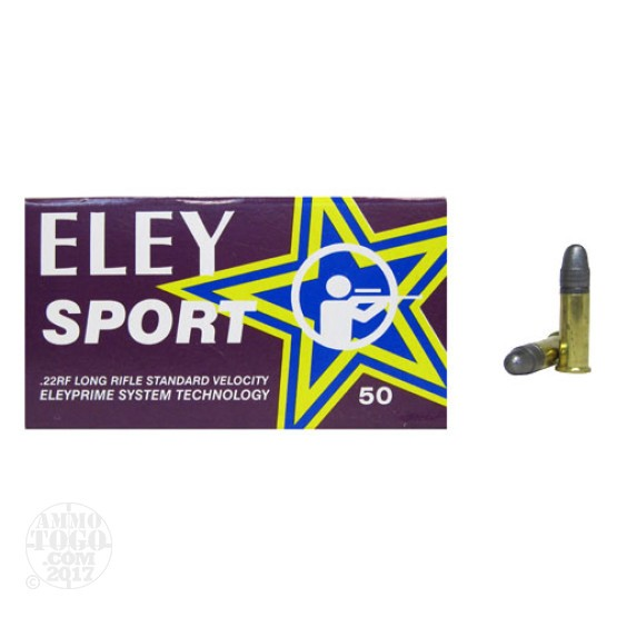 500rds - 22LR Eley Sport 40gr. Solid Point Ammo