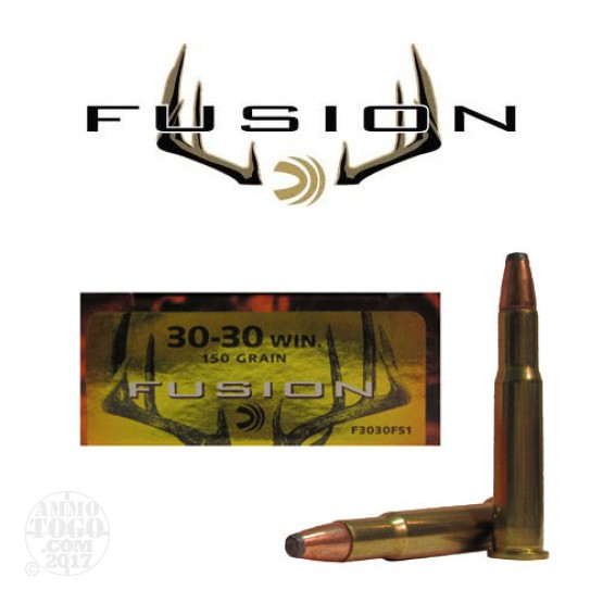 20rds - 30-30 Federal Fusion 150gr. Flat Nose SP Ammo
