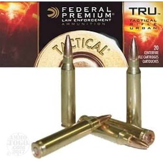 200rds - .308 Federal LE Tactical TRU 165gr. HP Ammo