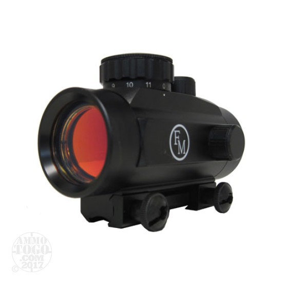 1 - FM 1X Red Dot Sight 30mm Optic Matte Black for Rimfire