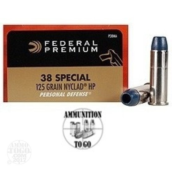 20rds - 38 Special Federal 125gr. Nyclad Hollow Point Ammo