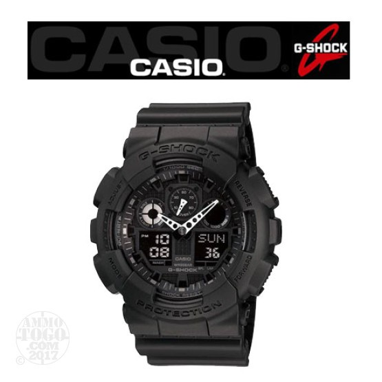 1 - Casio G-Shock GA100 TAC Watch Black