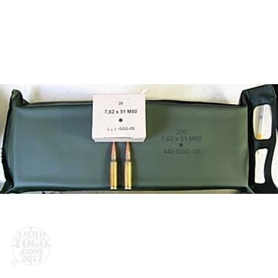 1000rds - .308 Lithuanian Military 146gr. FMJ Ammo