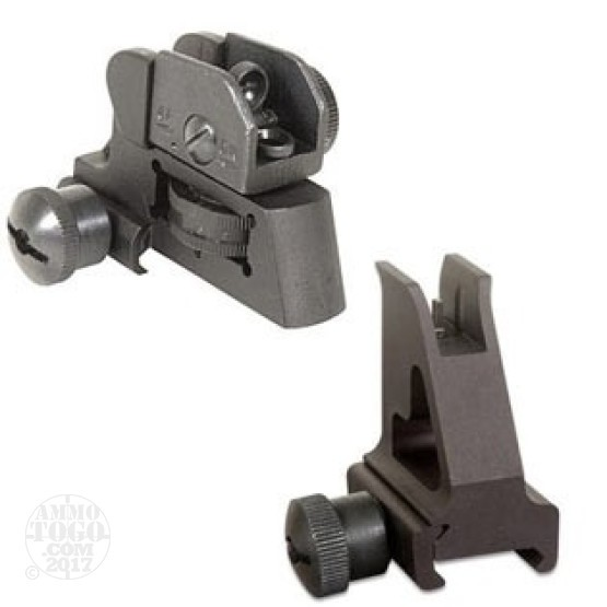 1 - GMG AR15/M4 Front & Rear Combo Iron Sights - A2 Style