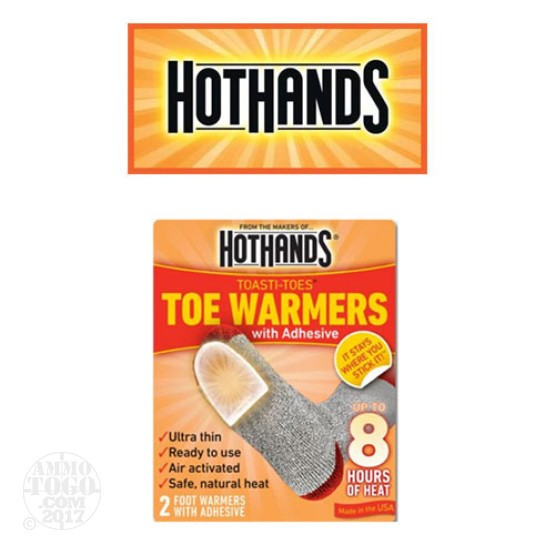 2 packs - HotHands Toasti-Toes Toe Warmers Twin-Pack