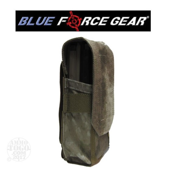1 - Blue Force Double M4 Magazine Pouch with Flap ATACS Camo