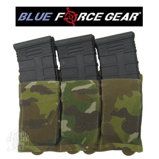 1 - Blue Force Ten Speed Triple M4 Magazine Pouch Multicam