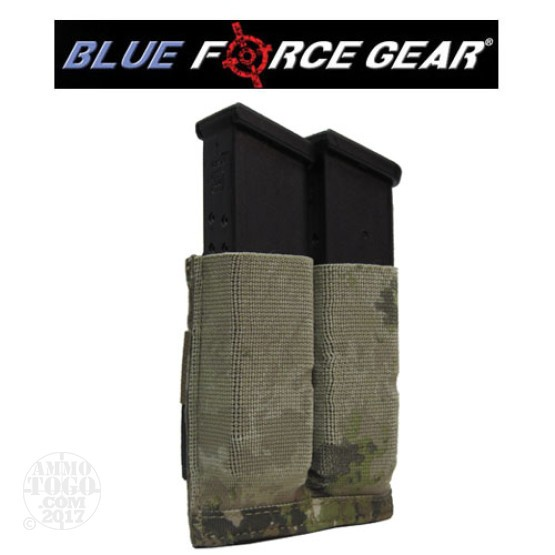1 - Blue Force Helium Whisper Ten Speed Double Pistol Mag Pouch ATACS