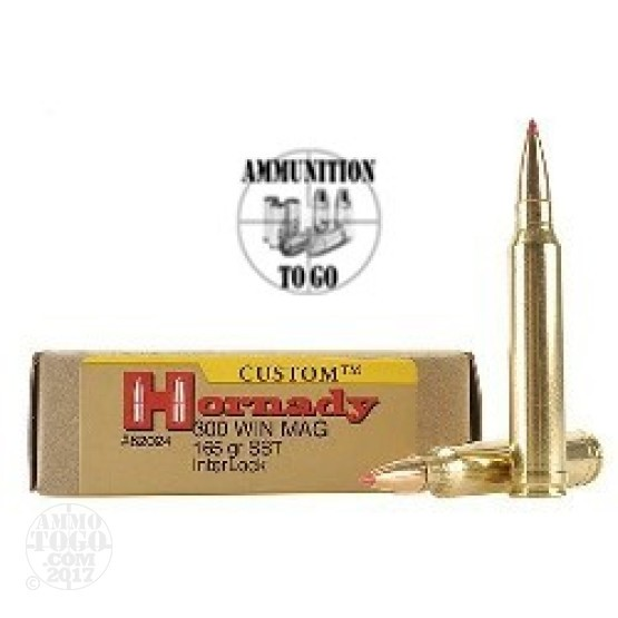 20rds - 300 Win Mag Hornady 165gr. Super Shock Tip Ammo
