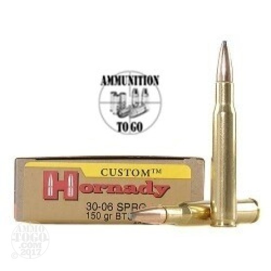 20rds - 30-06 Hornady 150gr. Boat Tail Spire Point Ammo