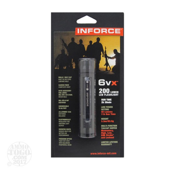 1 - Inforce 6VX 200 Lumen LED Flashlight