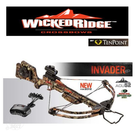 1 - TenPoint Wicked Ridge Invader HP Package with 3XML, Frame-Mounted ACU 52 Rope Cocker with Free Shipping
