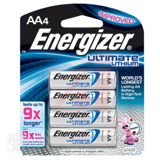 1 - Energizer Ultimate Lithium AA Batteries 1.5v 4-Pack