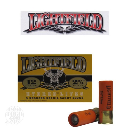"25rds - 12 Gauge Lightfield Hybred Lites 2 3/4"" 1 1/4oz. Sabot Slug Ammo"