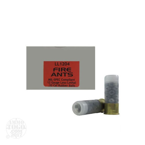 5rds - 12 Gauge Fire Ants Rubber Ball Ammo