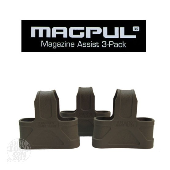 1 - Magpul .223/5.56 NATO 3 Pack Magazine Assist Flat Dark Earth
