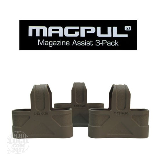 1 - Magpul .308/7.62 NATO 3 Pack Magazine Assist Flat Dark Earth