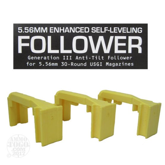1 - Magpul 5.56 Enhanced Self Leveling Follower 3 Pack Yellow
