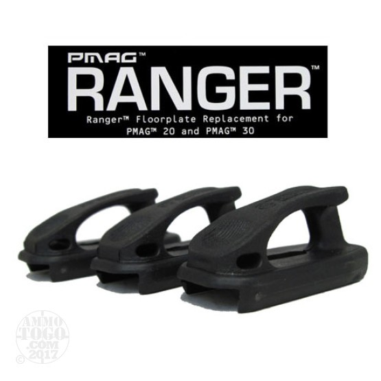 1 - Magpul PMAG Ranger Plate 3-Pack for PMAG 20 and PMAG 30 Black