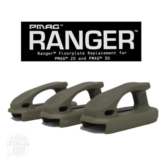 1 - Magpul PMAG Ranger Plate 3-Pack for PMAG 20 and PMAG 30 Dark Earth