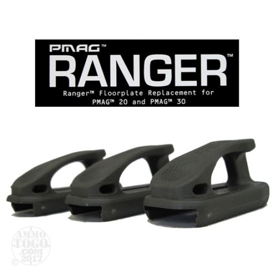 1 - Magpul PMAG Ranger Plate 3-Pack for PMAG 20 and PMAG 30 OD Green