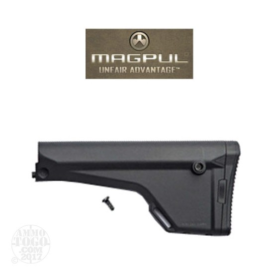 1 - Magpul MOE Rifle Stock Black w/ PRS Rubber Butt Pad (A2 Replacement)