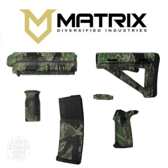 1 - Matrix Diversified With Magpul AR-15 Tiger Stripe Commercial Rifle Kit