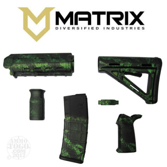 1 - Matrix Diversified With Magpul AR-15 Zack Green Commercial Rifle Kit