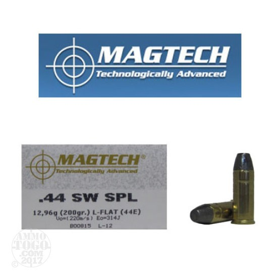 50rds - 44 Special MAGTECH Cowboy 200gr. Lead Flat Nose Ammo