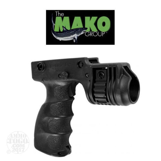 "1 - Mako Foregrip w/1"" Weapon Light Adapter and On/Off Trigger Black"