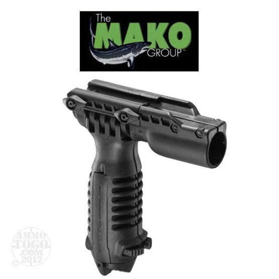 "1 - Mako Foregrip with Integrated Adjustable Bipod and 1"" Flashlight Adapter"