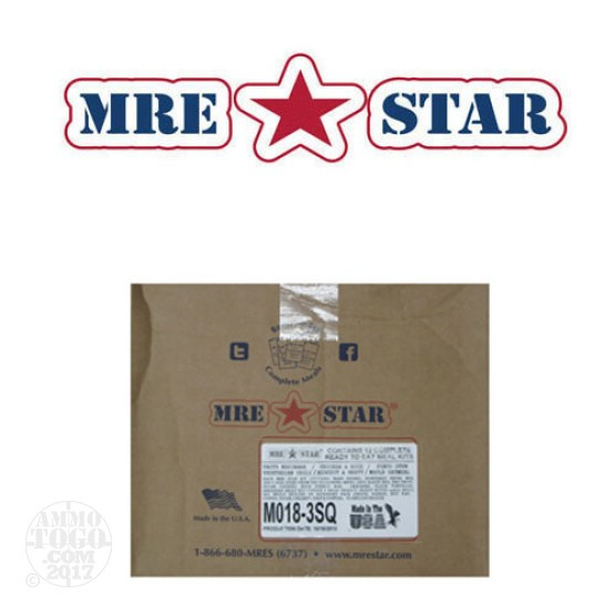 1 - 12 Pack MRE STAR Complete 3 Square Meal Kit W/ Flameless Heater