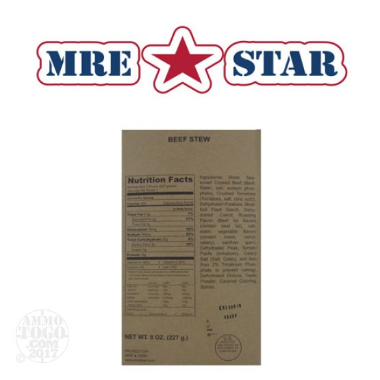 1 - MRE STAR Beef Stew Entree Only