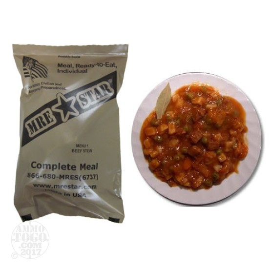 1 - MRE STAR Beef Stew with Potatoes and Vegetables