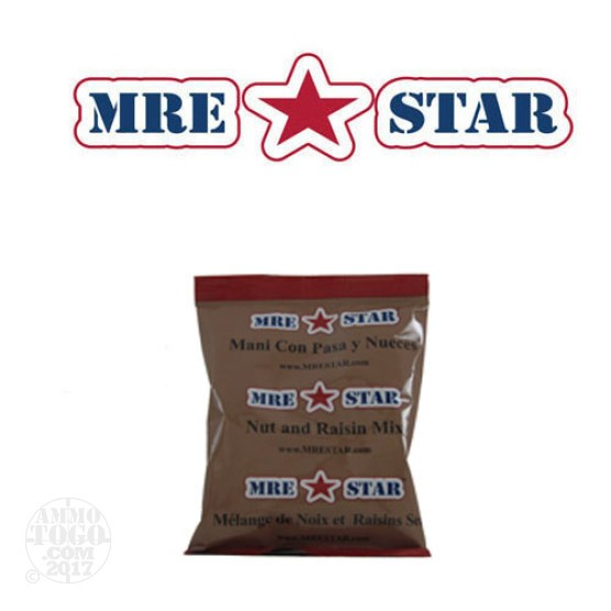 1 - MRE STAR Nut and Raisin Mix 56 gram Snack Pack