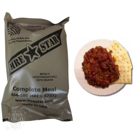 1 - MRE STAR Vegetarian Chili with Beans