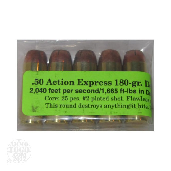 5rds - 50 AE Magsafe 180gr. Defender Ammo