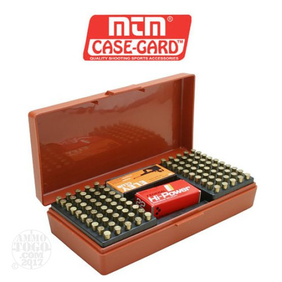 1 - MTM Case-Gard SB-200 100rd. Rimfire Ammo Box for .22 - 17HMR Rust Color