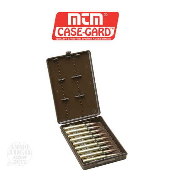 1 - MTM Case-Gard Rifle Ammo Wallet 9rd. .22-250 - .375 Caliber Brown Color