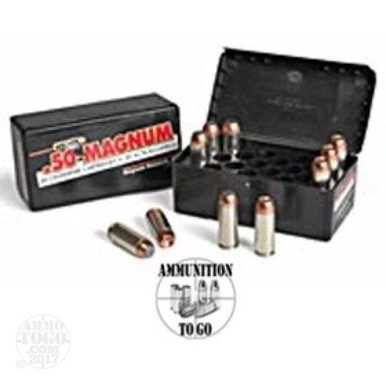 20rds - 50 AE Magnum Research 350gr. JSP Ammo