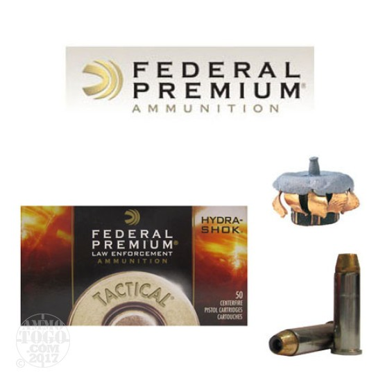 50rds - 38 Special Federal LE Tactical Hydra-Shok 129gr. +P HP