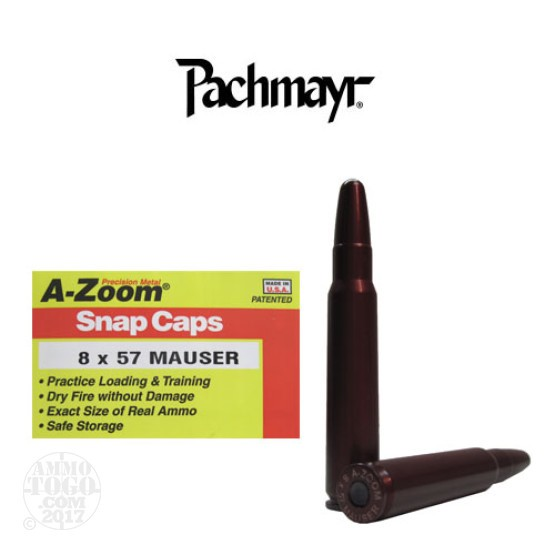 2rds - 8 x 57 Mauser Pachmayr A-Zoom Snap Caps