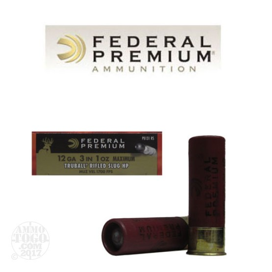 "25rd - 12 Gauge Federal Premium 3"" 1oz. Max Truball Rifled Slug HP Ammo"