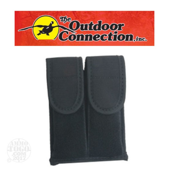 1 - Outdoor Connection Dual Magazine Pouch, Black
