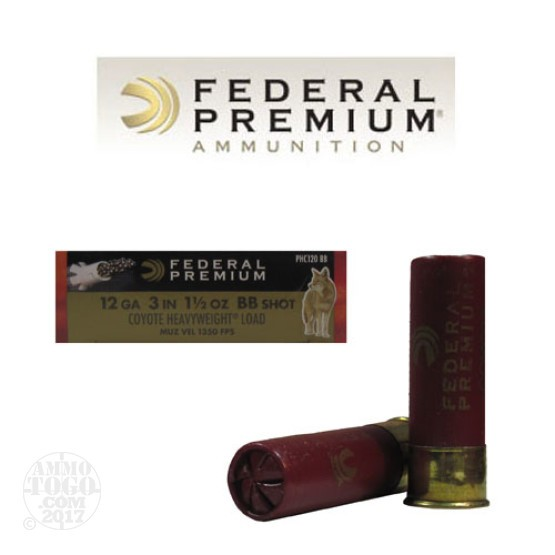 "10rds - 12 Ga. Federal Premium Coyote Heavy 3"" 1 1/2oz. BB Shot Ammo"